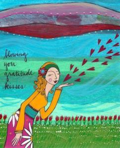 Smile gratitude and love