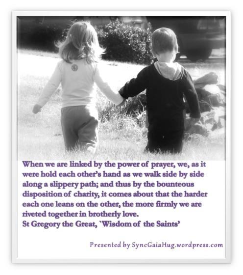 hands slippery path prayer