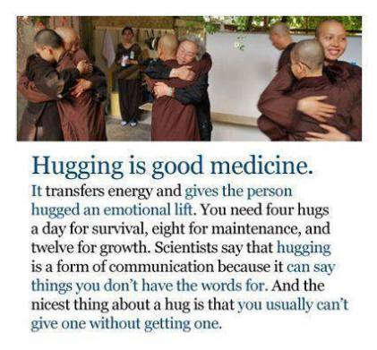 hugging good medicine