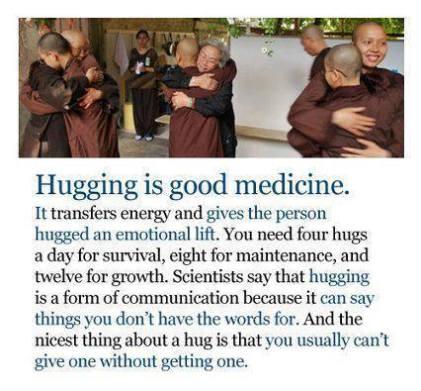hugging good medicine