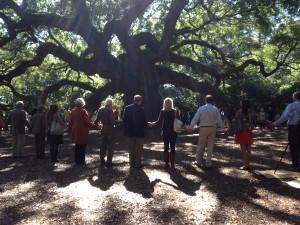 gather under tree