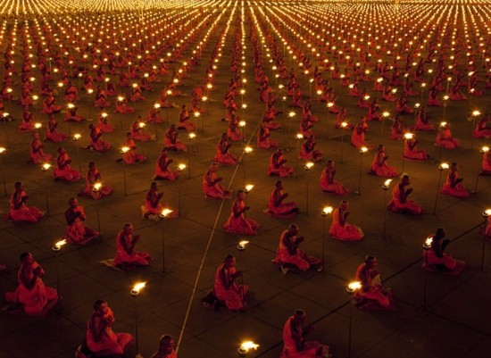 Monks sync prayer better world