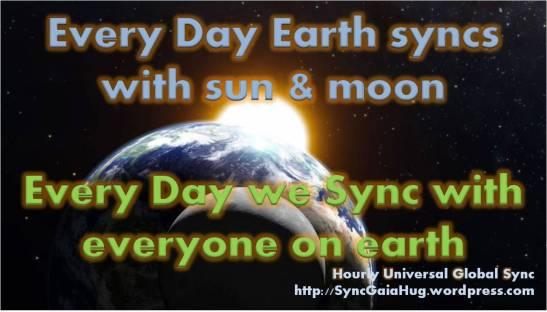 sun moon earth sync