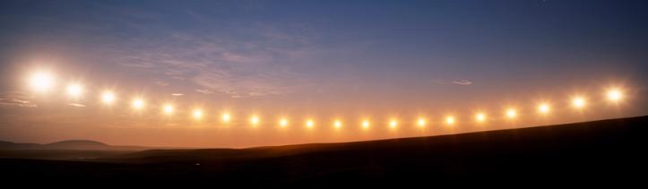 Midnight Sun, Toolik Lake, Alaska, USA