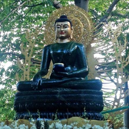 Jade Peace Buddha- Bhumisparsh Mudra- calling the Earth to witness