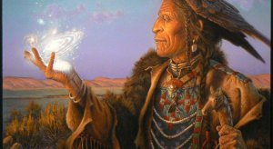 indigenous elder light hand