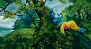 Krishna flute forest