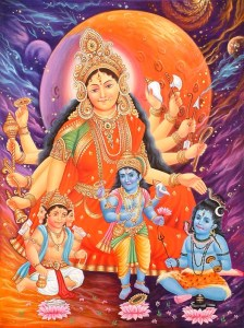 devi_the_mother_goddess_and_her_three_children_hc21